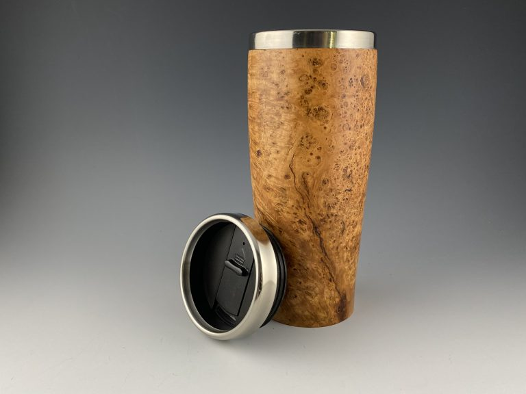 Cherry Burl Travel Mug