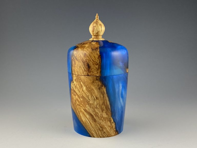 Spalted Apple and Resin Lidded Box
